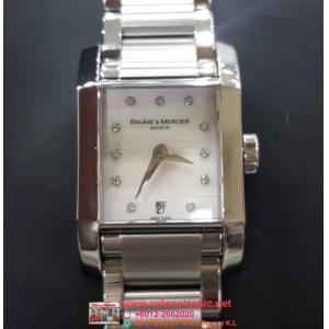 BAUME & MERCIER Hampton Mother of pearl and Diamond Index 23mm(With Box)