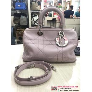 SOLD - DIOR Pink Leather 2-Way Bag