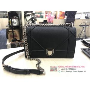 SOLD - DIOR Black Leather Chain Bag
