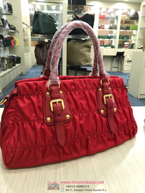 549260788ab5 ... canada prada red nylon gaufre bag small 2 way bag 8d7ed 9fb2d