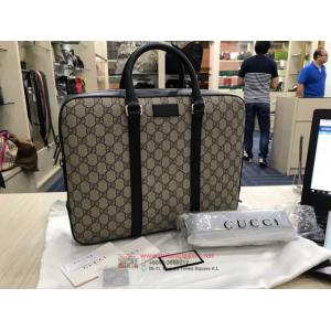 NEW - GUCCI Waterproof Canvas Briefcase With Long Strap