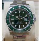 "ROLEX 116610LV Submariner Green Dial Green Ceramic Bezel Auto ""Random Serial"" 40mm (With Card + Box )"