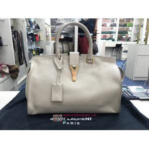 YSL Milk White Color Full Leather Handbag
