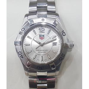 SOLD - TAG Heuer Aquaracer Ladies Quartz Silver Dial S/S 27mm (With Box) - NETT PRICE