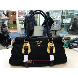 SOLD - NEW - PRADA Black Nylon+Leather GHW Shoulder/Crossbody Bag