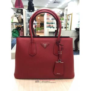 SOLD - PRADA Red Leather 2-Way Bag