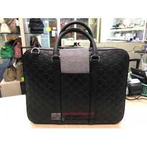 NEW - GUCCI Black Leather Briefcase