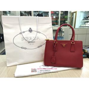 SOLD - PRADA Red Saffiano Leatther Galleria 2-Way Bag