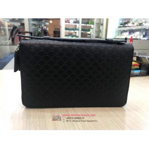 NEW - GUCCI Black Leather Organiser