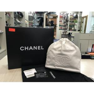 SOLD - CHANEL White Leather Handbag