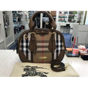 SOLD - BURBERRY House Check 2-Way Bag