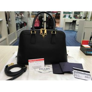 PRADA Black Leather Bag With Leather Strap