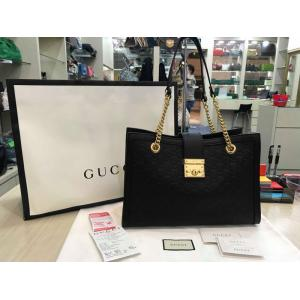 NEW - GUCCI Black Leather Tote Bag