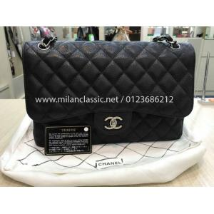 SOLD - CHANEL Caviar Classic Double Flap Jumbo SHW
