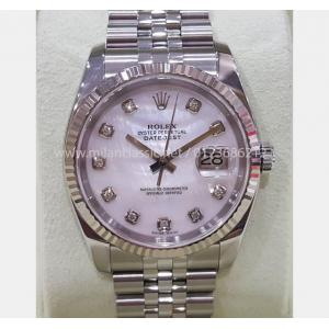 "RESEVED - ROLEX 116234 MOP With Diamond Index Dial Auto 18K/SS 36mm ""D-Serial"" (With Box )"