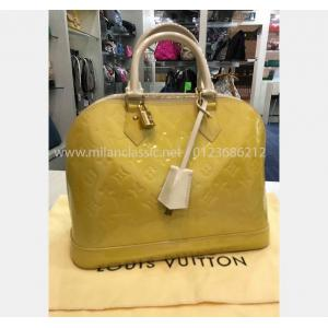 LV Monogram Vernis Yellow/White Alma PM