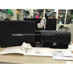 NEW - CHANEL Grained Calfskin & Silver-Tone Metal Large Classic Handbag (30cm)