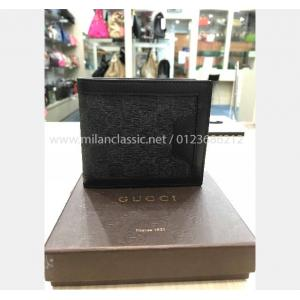 NEW - GUCCI Black Canvas & Leather Wallet
