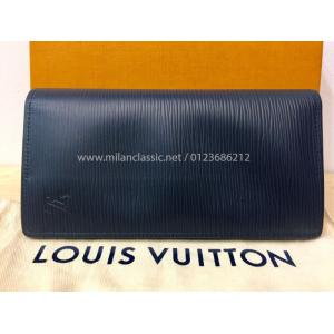 NEW - LV Epi Leather Brazza Wallet Navy Blue