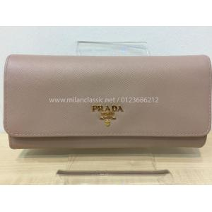 NEW - PRADA Saffiano Leather Cammeo Wallet With Card Holder