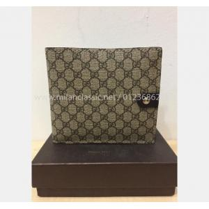 SOLD - GUCCI Brown Leather & Canvas Men Wallet