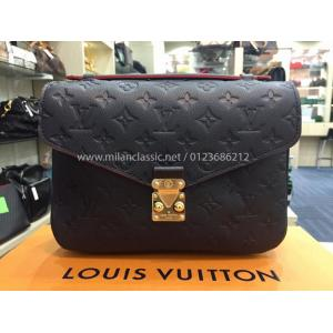 SOLD - NEW - LV Monogram Empreinte Leather Pochette Metis Marine Rouge