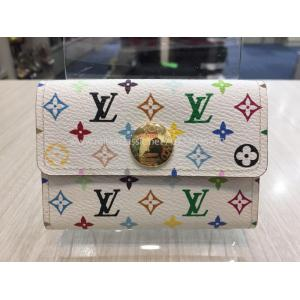 LV Multicolor White Card Holder