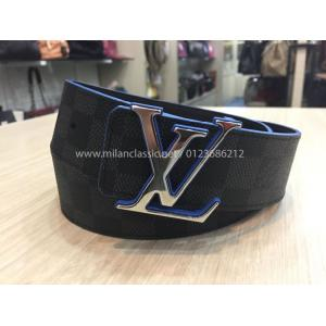 SOLD-LV Damier & Black Calf Leather Initials 40mm Reversible Belt
