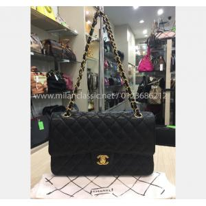 SOLD - CHANEL Grained Calfskin & Gold-Tone Metal Black Classic Handbag