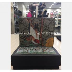 SOLD-GUCCI Waterproof Canvas Bird Print Men Wallet