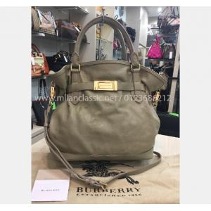 BURBERRY Cream Color Leather Bag
