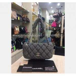 CHANEL Bubble Fabric Flap Bag