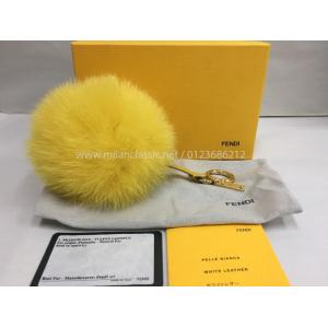 SOLD - FENDI Yellow Fur Charm