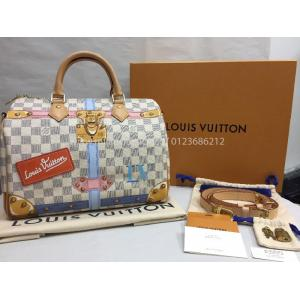 NEW - LIMITED EDITION - LV Trunk Damier Azur Speedy 30cm