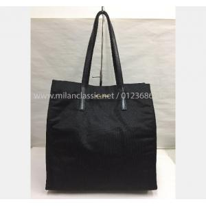 SOLD - MIU MIU Black Canvas Shopping Bag - NETT PRICE