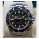 NEW - ROLEX 114060LN Submariner Ceramic Bezel Auto S/S 40mm