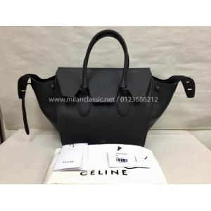 NEW - Celine Tie Handbag In Black Calfskin