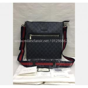 SOLD-NEW - GUCCI Waterproof Canvas Red Blue Strap Sling Bag