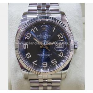 "ROLEX 116234 Blue Concentric Arabic Numeral Dial Auto S/S 36mm ""M-Series"" (With Box)"