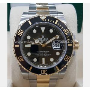 "SOLD - Rolex 116613LN Submariner Black Dial Ceramic Bezel Auto 18K/SS 40mm ""Random Series"" (With Box + Card)"