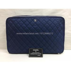 CHANEL Quilted Nylon Laptop Case