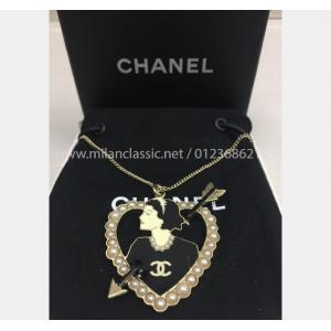 CHANEL Necklace With Pearl Pendant