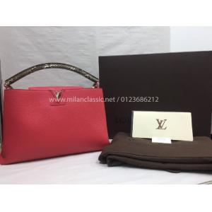 LV Red Capucines MM Python