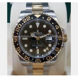 "NEW - ROLEX 116713LN GMT II Black Ceramic Bezel Auto 18K/SS 40mm ""Random Serial"" (With Box + Card)"