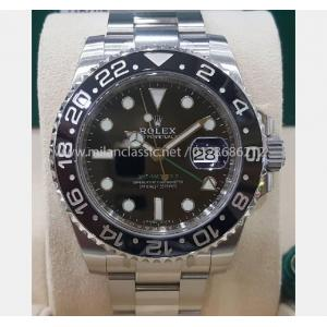 "SOLD - NEW - ROLEX 116710LN GMT II Ceramic Bezel Auto S/S 40mm ""Random Serial"" (With Card +Box)"