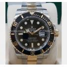 Rolex 116613LN Submariner Black Dial Ceramic Bezel Auto 18K/SS 40mm