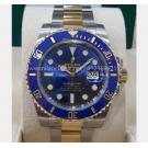 NEW - ROLEX 116613LB Submariner Blue Dial Ceramic Bezel Auto 18K/SS 40mm