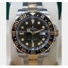 NEW - ROLEX 116713LN GMT II Black Ceramic Bezel Auto 18K/SS 40mm