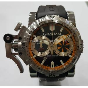 SOLD - GRAHAM Chronofighter Oversize Diver Black Dail S/S Auto 47mm(With card + Box)
