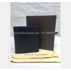 LV Black Epi Leather 6 Card Slot Wallet